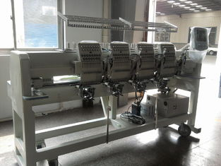 Tubular 4 Head Embroidery Machine For Caps / Leather Products 400 X 450 Mm