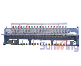 20 Head Flat / Chenille Embroidery Machine For Hats And Shirts